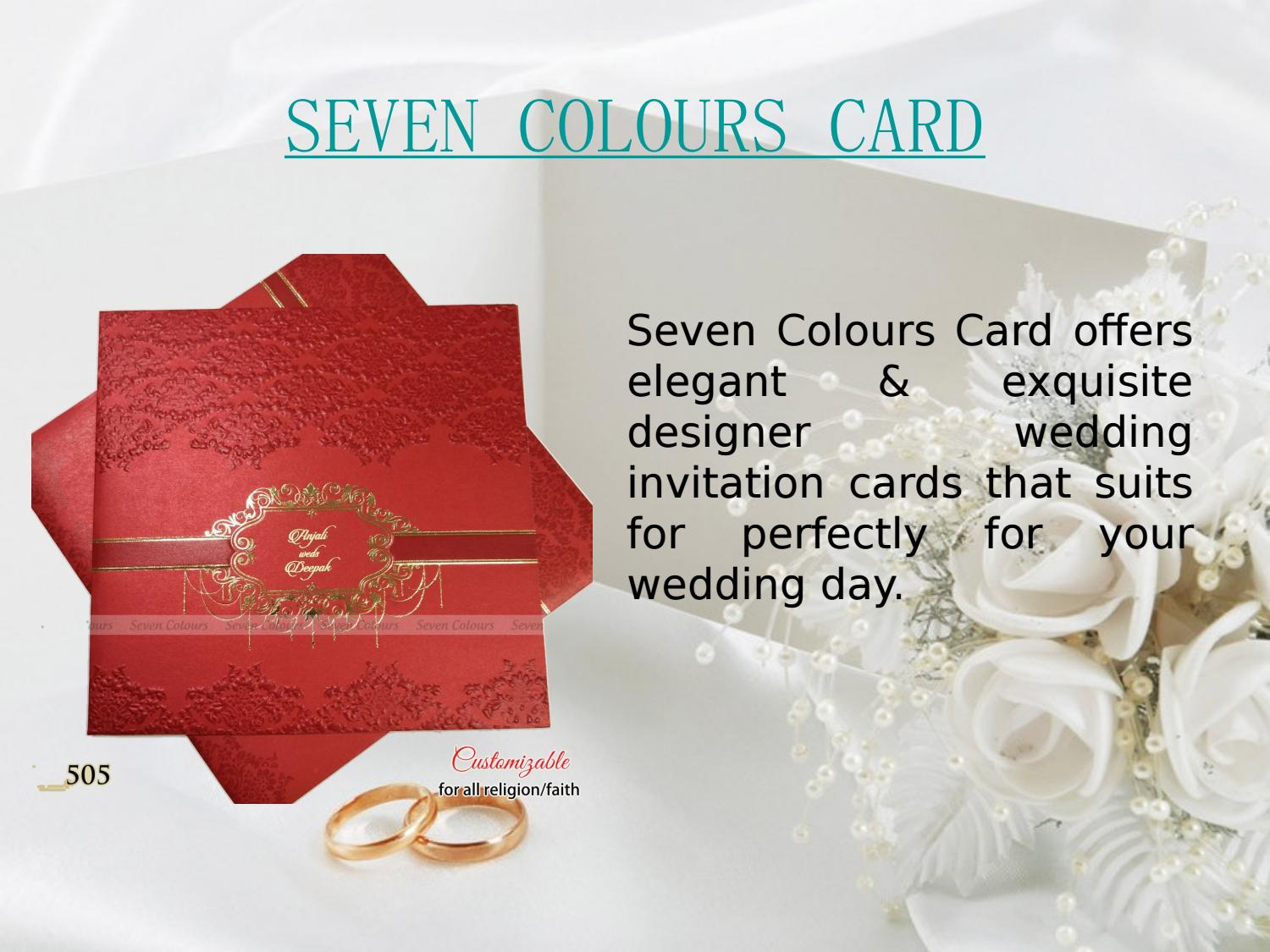 Designer Wedding Invitations Collection by Seven Colours Card - issuu