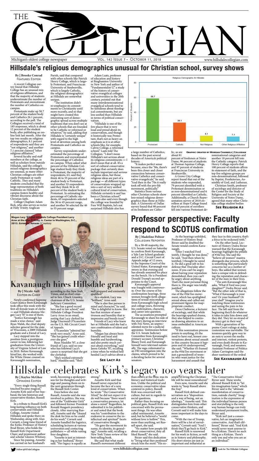 Hilldale Wind O Meter Registers >> Hillsdale Collegian 10 11 18 By The Hillsdale Collegian Issuu
