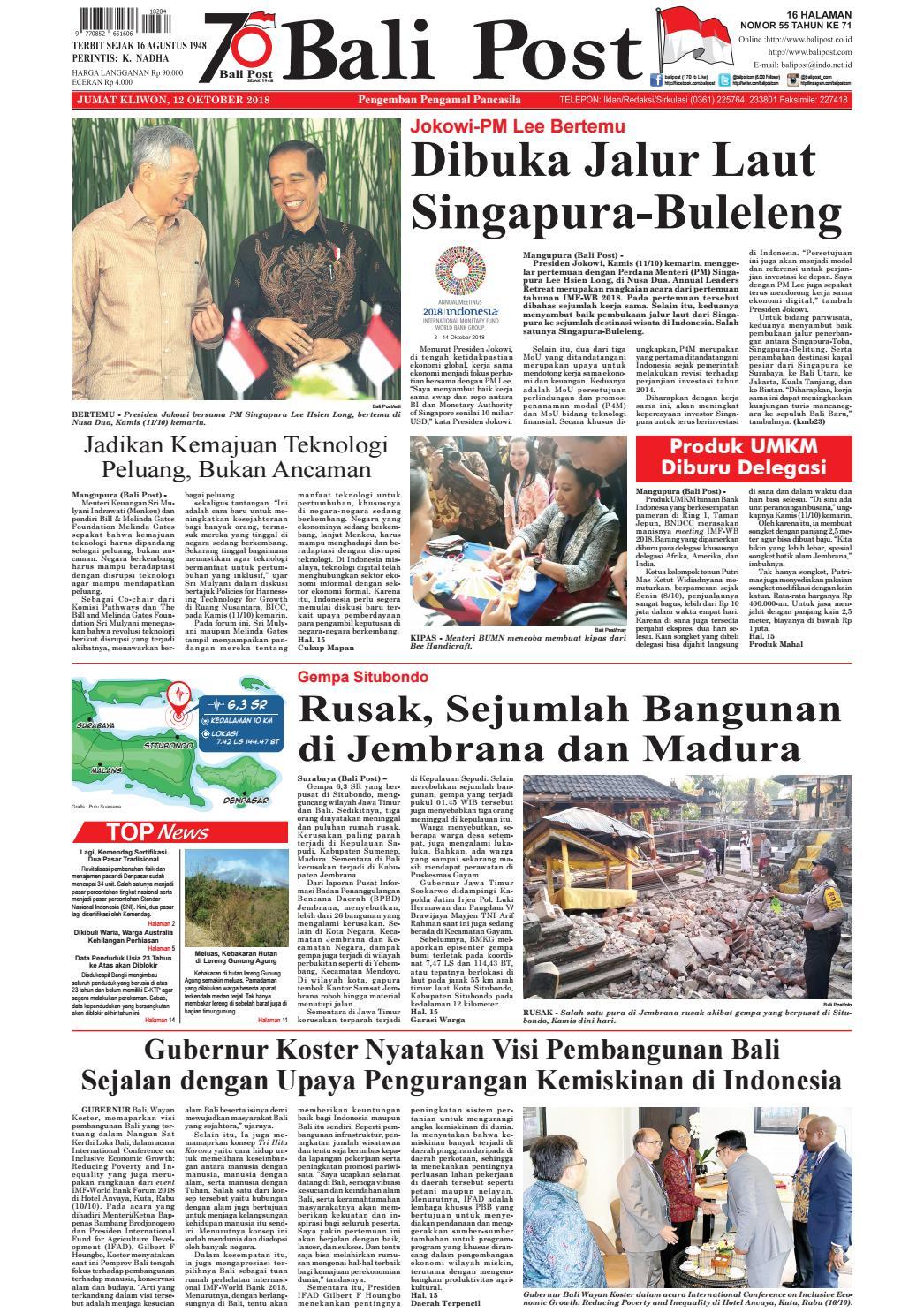 Edisi Jumat 12 Oktober 2018