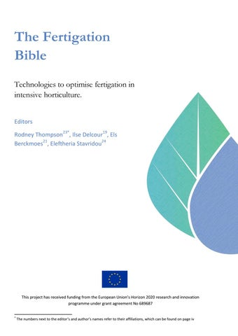 La Biblia de la Fertirrigación by Horticultura & Poscosecha - issuu