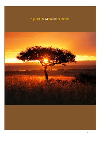 Page 4 of Against the Masai Mara Sunset