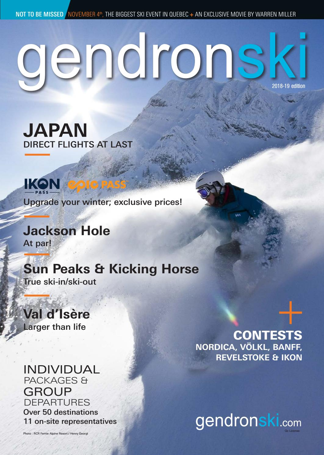 262bdf546337 2018-2019 Gendronski Magazine by Voyages Gendron - issuu