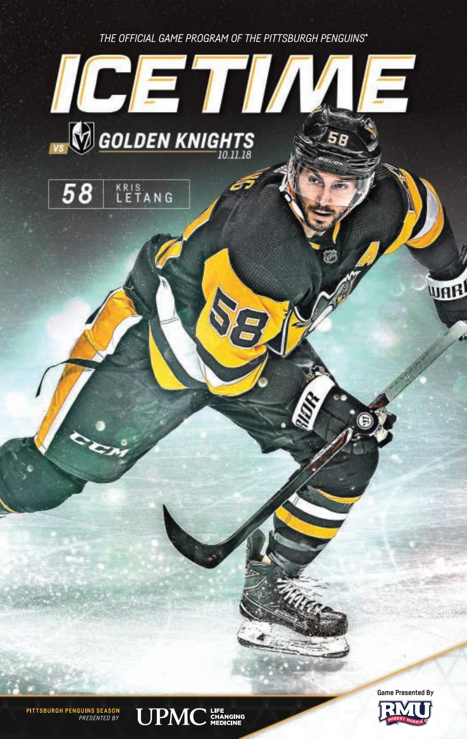 IceTime - Game 3 vs. Vegas Golden Knights 10.11.18 by Pittsburgh Penguins -  issuu a008f2580