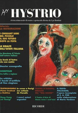 Hystrio 1997 3 Luglio Settembre By Hystrio Issuu