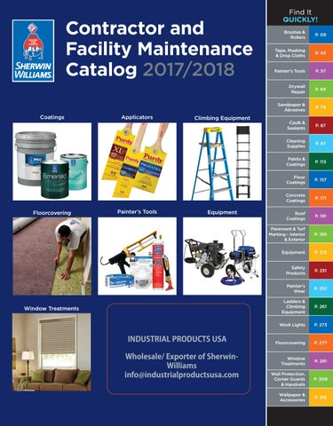CATALOGUE PAINTING SHERWIN WILLIAMS - INDUSTRIAL PRODUCTS