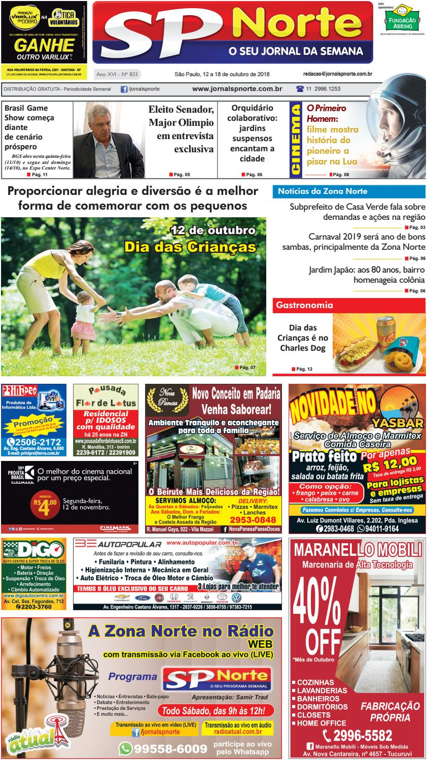 fad03dadd Edição 833 - 12 a 18 de Outubro de 2018 by Jornal SP Norte - issuu