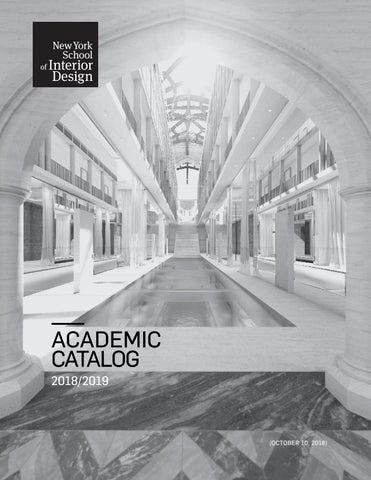Academic Catalog 2018–2019 by New York School of Interior Design - issuu