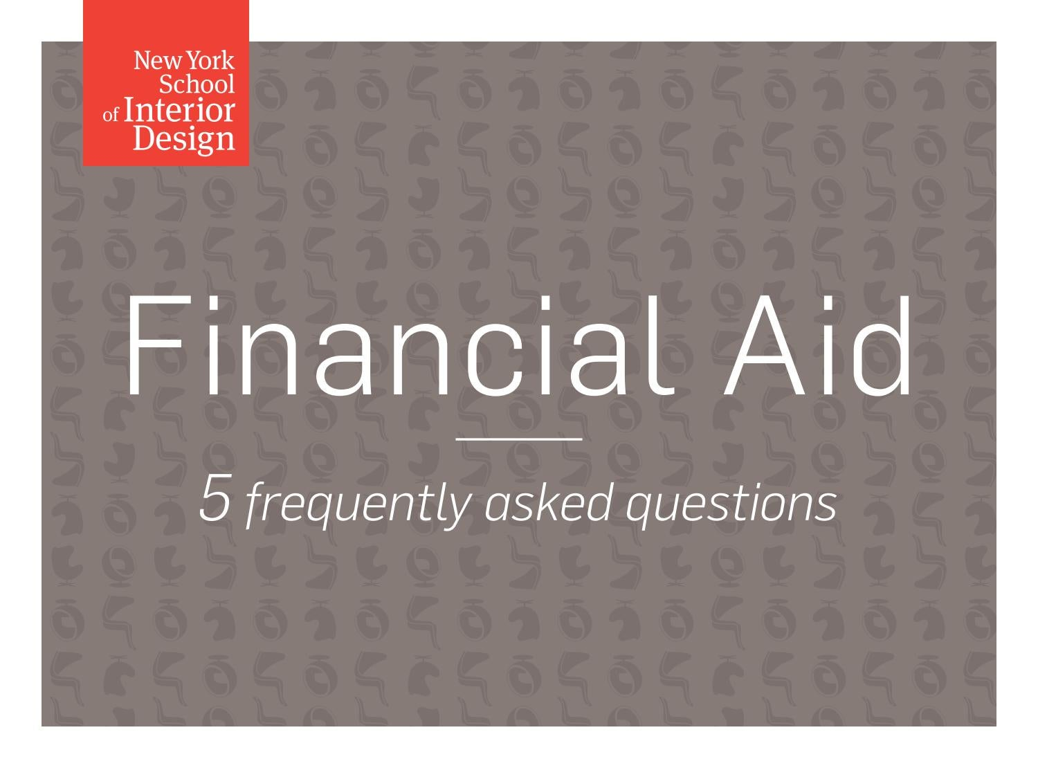 Financial Aid At Nysid By New York School Of Interior Design Issuu