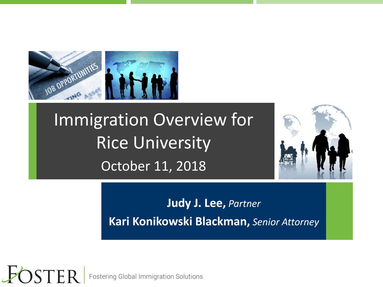 2018 Immigration Presentation Foster