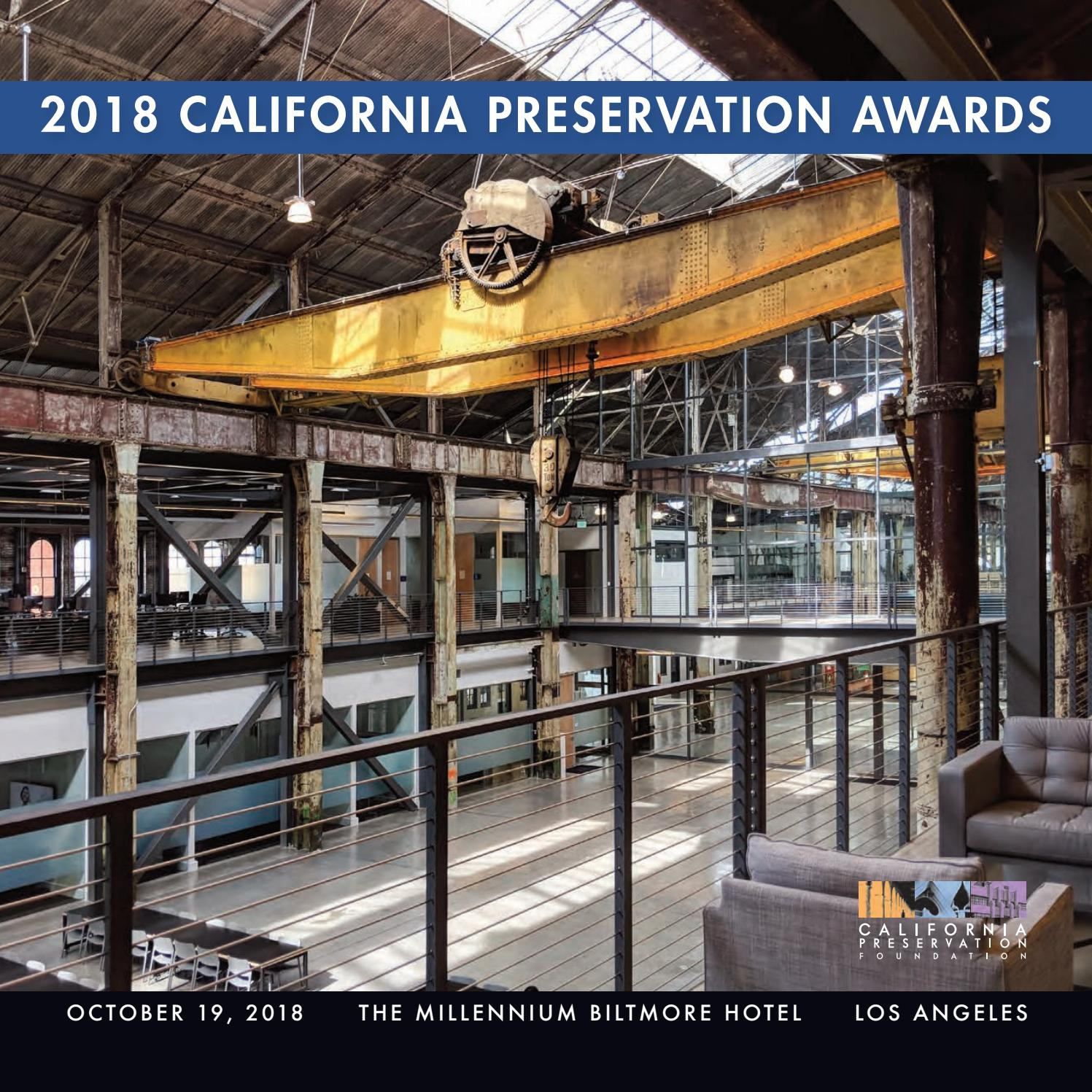2018 California Preservation Awards by California