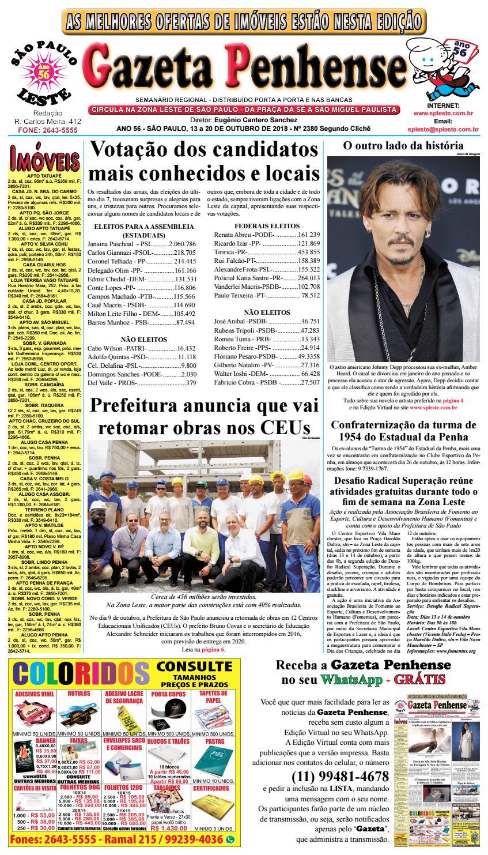 82bf1472bdcfa Gazeta Penhense edição 2380v - 13 a 20.10.18 by Marcelo Cantero - issuu