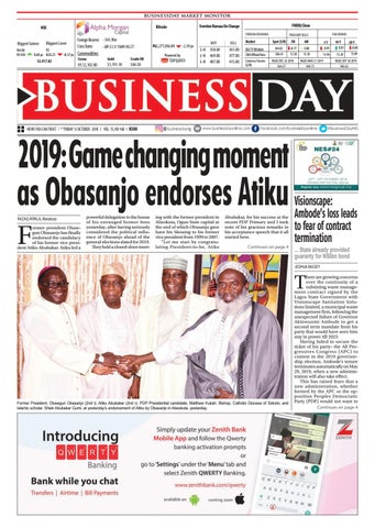 BusinessDay 12 Oct 2018 by BusinessDay - issuu