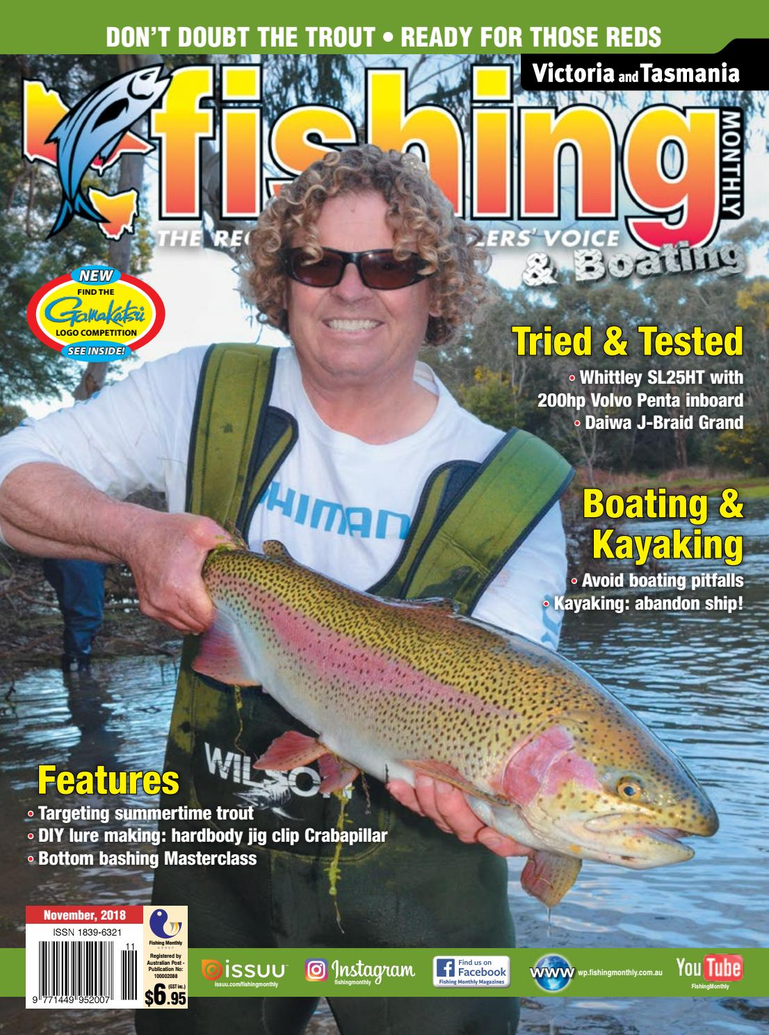 Victoria and Tasmania Fishing Monthly November 2018 by