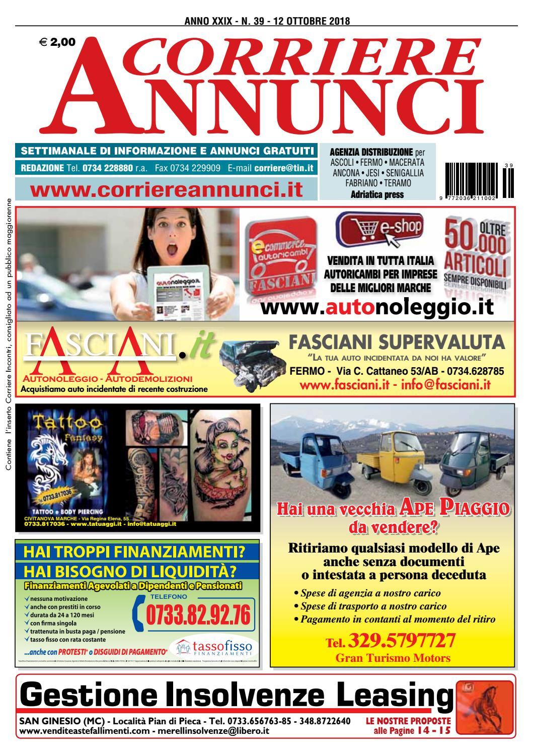 61d4d7810b Corriere 39-2018 by Corriere Annunci - issuu