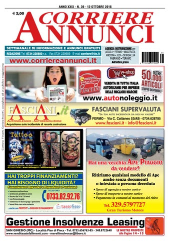 25639976dc54 Corriere 39-2018 by Corriere Annunci - issuu