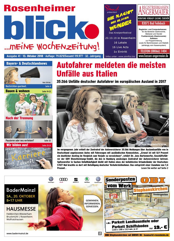 Rosenheimer blick - Ausgabe 41 | 2018 by Blickpunkt Verlag ...