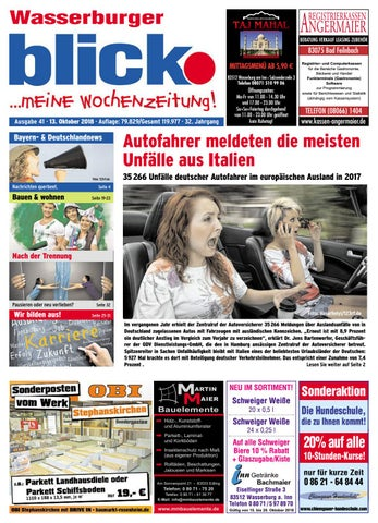 Wasserburger Blick Ausgabe 41 2018 By Blickpunkt Verlag