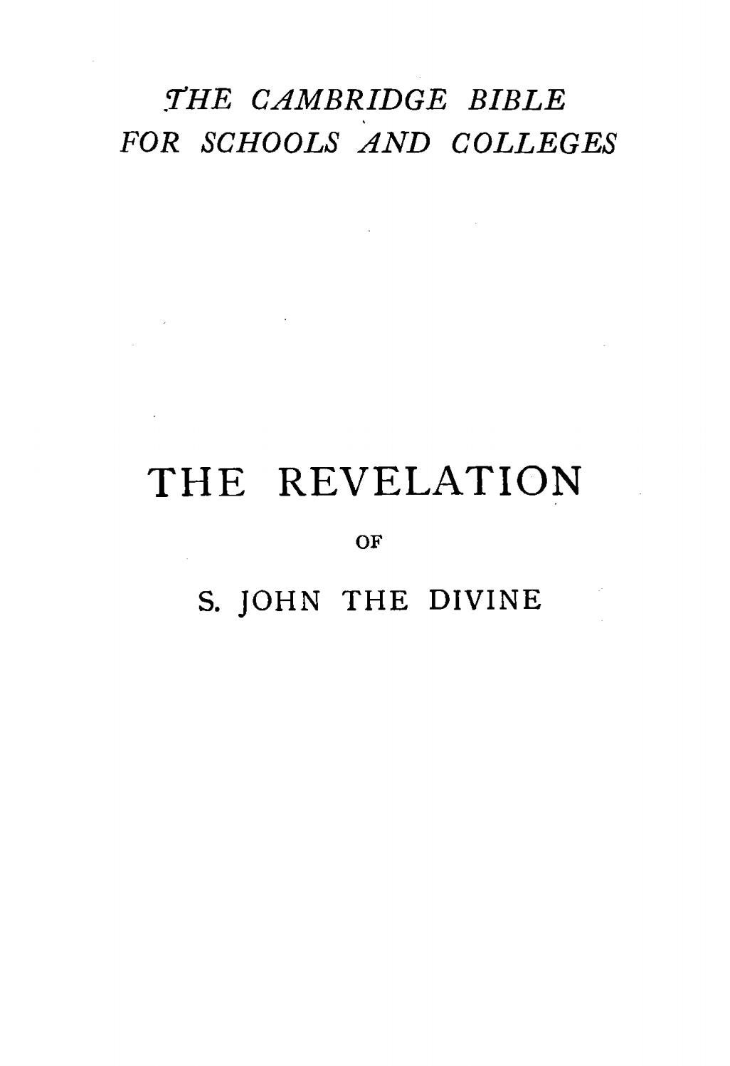 William Henry Simcox [1843-1889], The Revelation of S  John the Divine with  Notes and Introduction