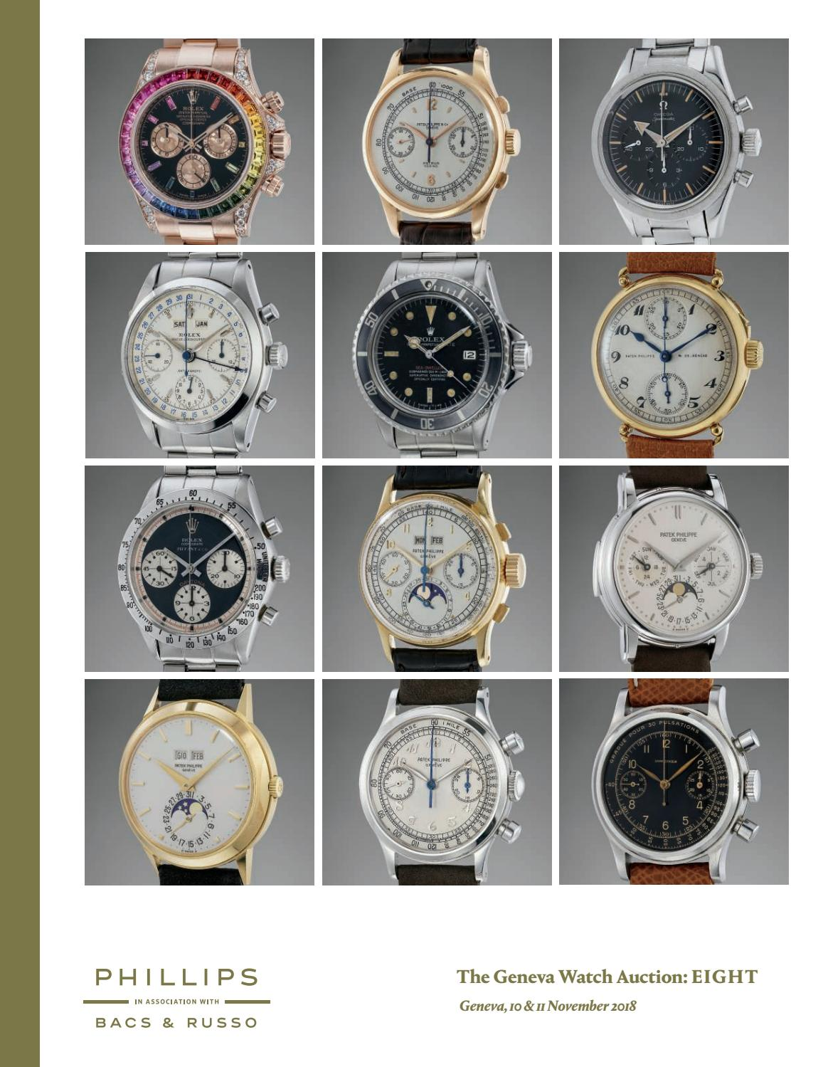 4344ad0fd04f The Geneva Watch Auction  EIGHT  Catalogue  by PHILLIPS - issuu