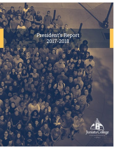 Cover of Juniata College President's Report, 2016