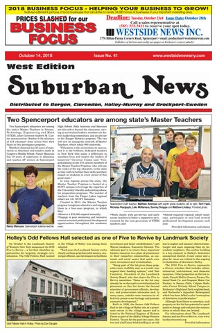 Suburban News West Edition - October 14, 2018 by Westside