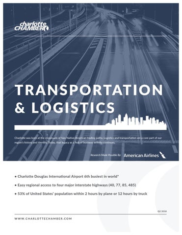 2018 Transportation and Logistics by Charlotte Regional