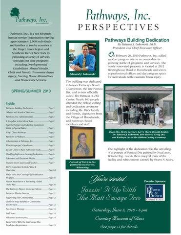 Pathways, Inc  Spring/Summer 2010 Newsletter by Pathways