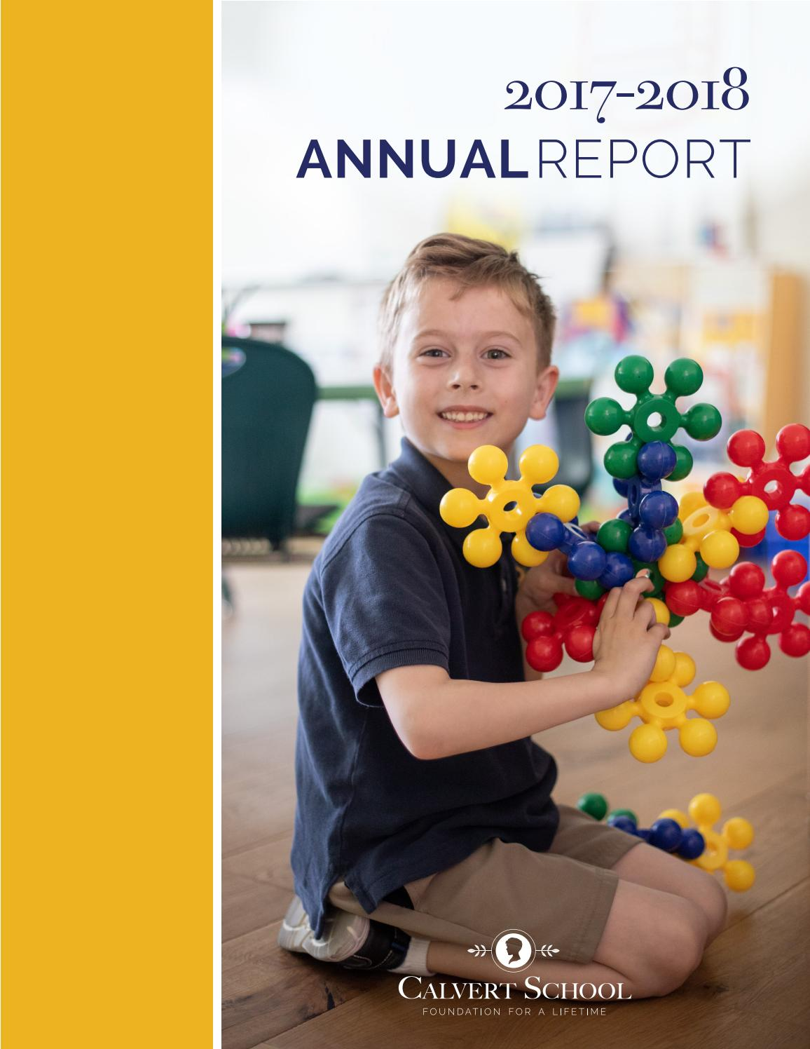 Calvert School - 2017-2018 Annual Report by Calvert School