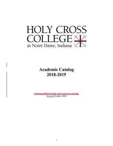 2018-2019 Academic Catalog by Holy Cross College - issuu
