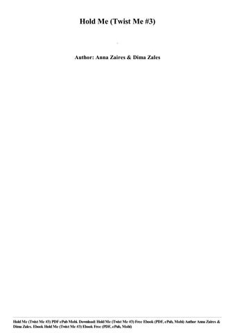 Hold Me Anna Zaires Pdf