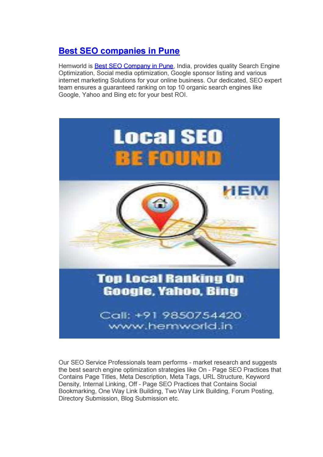 Best SEO companies in Pune by Alpita Kavitake - issuu