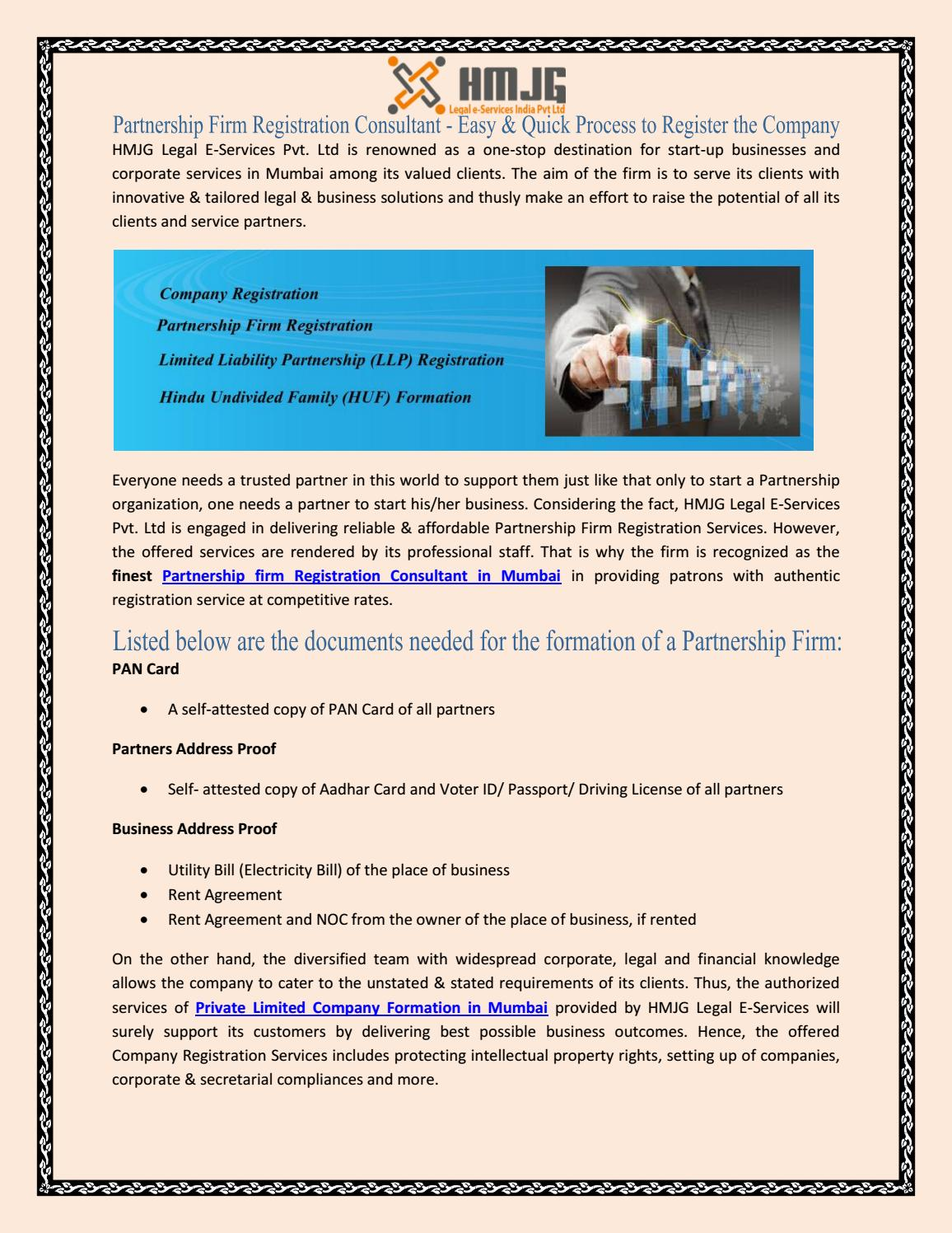how to register a partnership firm in india