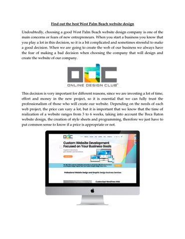 Find Out The Best West Palm Beach Website Design Undoubtedly Choosing A Good Company Is One Of Main Concerns Or Fears