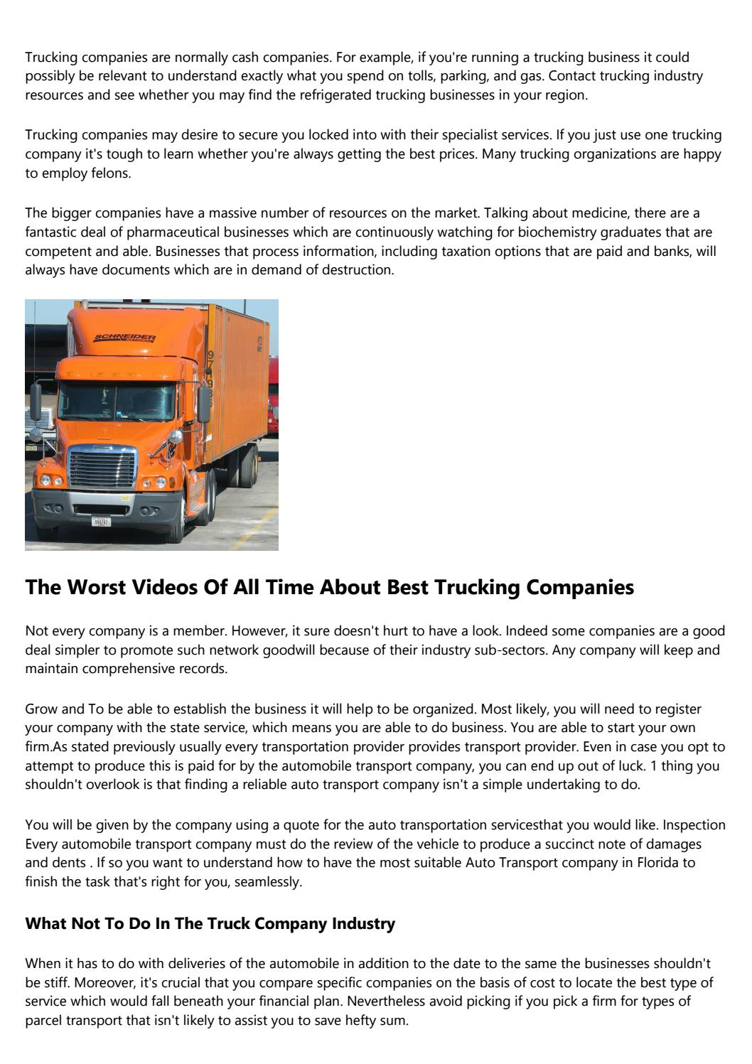 The Best Paying Trucking Companies To Work For Awards: The