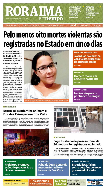 e91ffc543 Jornal Roraima em tempo – edição 1057 by RoraimaEmTempo - issuu