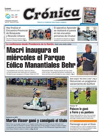 Diario cronica 15 10 2018 by Diario Crónica - issuu 51596f844380
