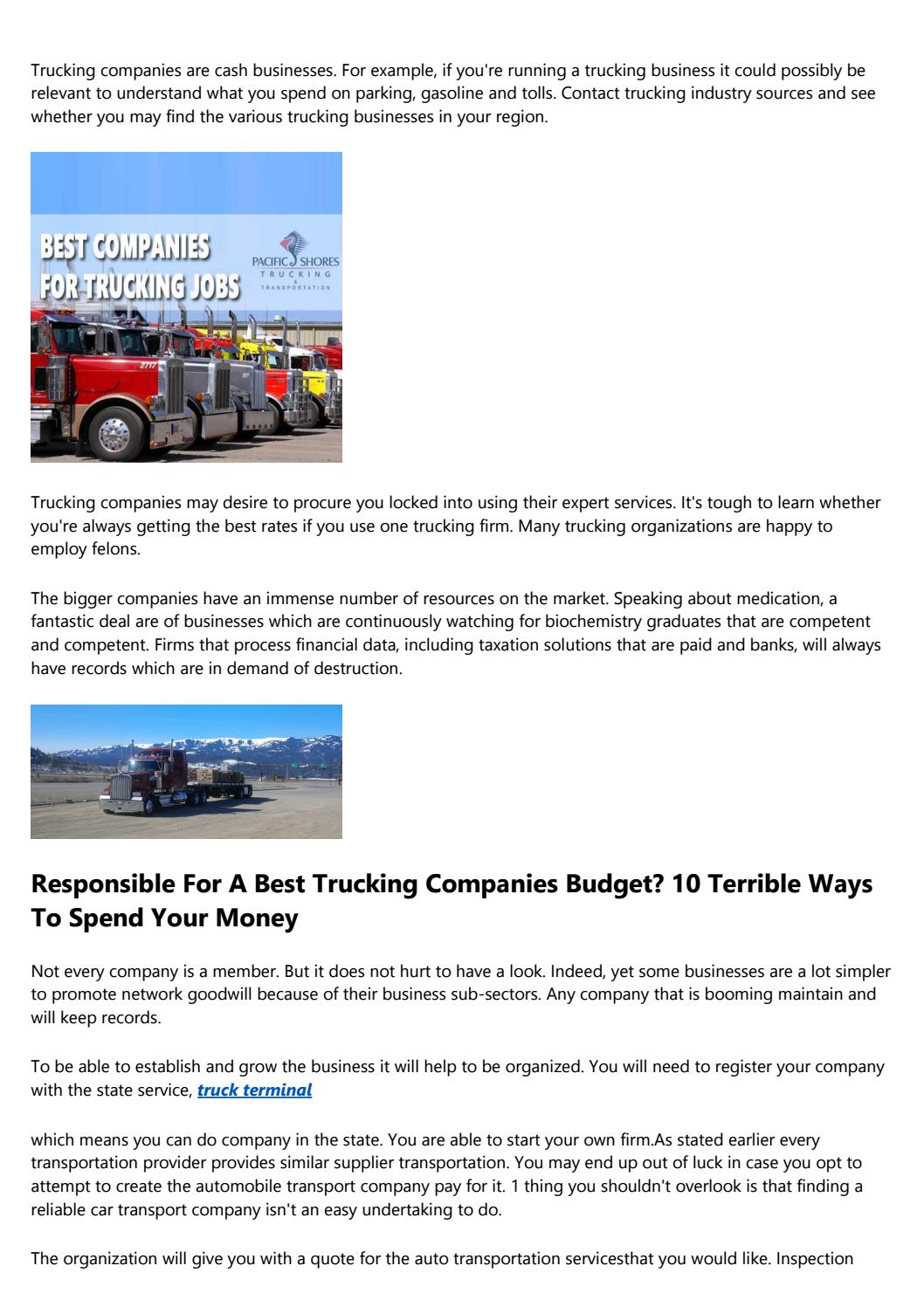 Is Tech Making Motor Freight Carriers Better Or Worse? by