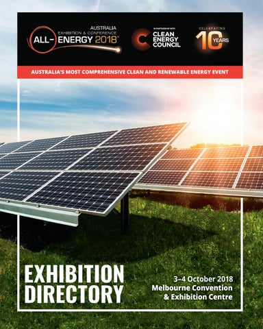 All-Energy Australia 2018 Directory by Reed Exhibitions AU - issuu