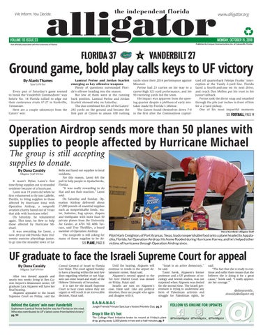 October 15, 2018 by The Independent Florida Alligator - issuu