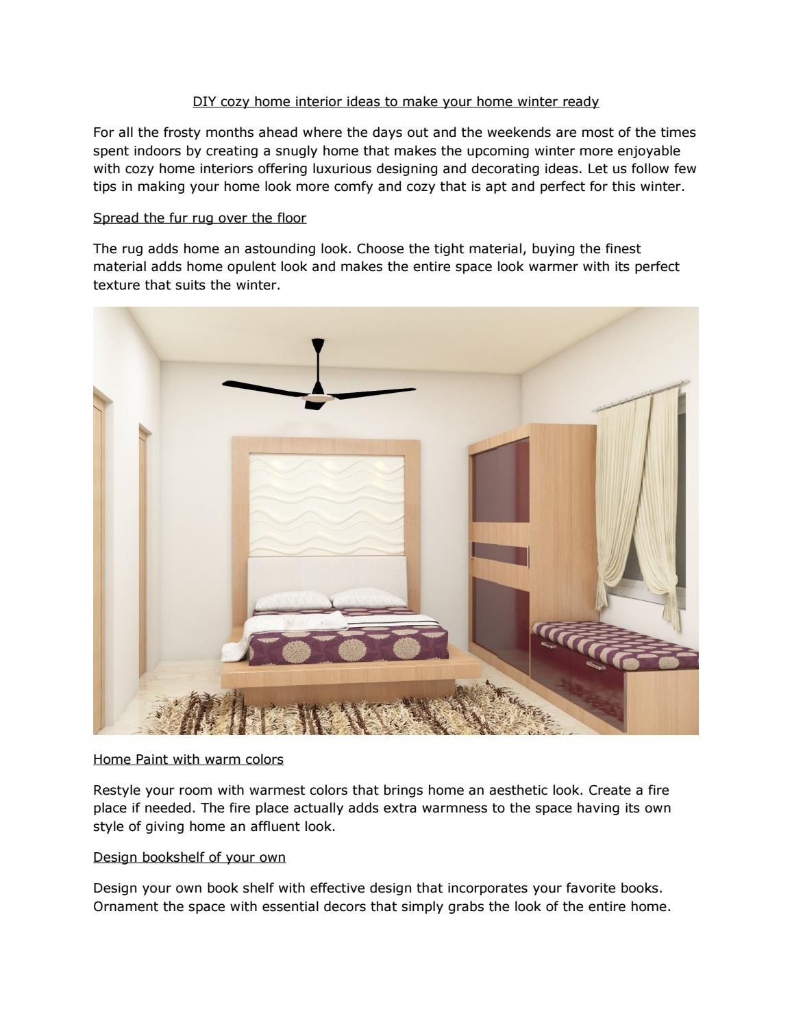 Diy Cozy Home Interior Ideas To Make Your Home Winter Ready By Rajeshwork Issuu
