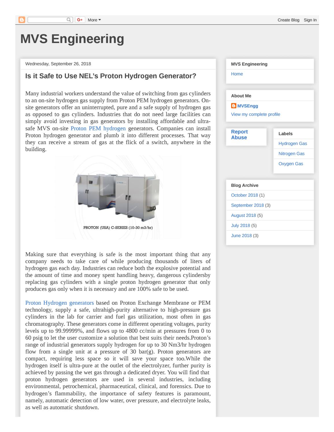 Is It Safe To Use Nel S Proton Hydrogen Generator By Mvs Engg Issuu