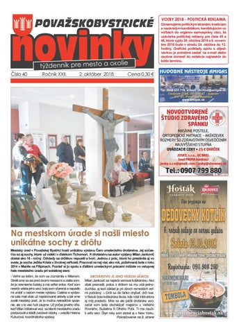 Považskobystrické novinky č. 40 2018 by Považskobystrické novinky ... 8727c7512a3