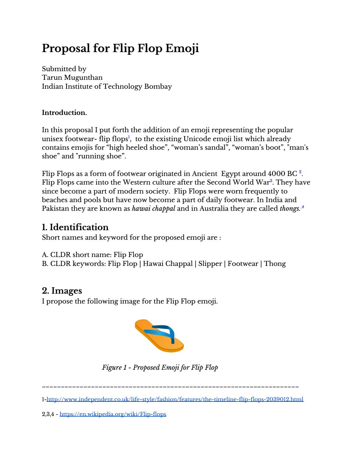 Flipflop emoji proposal by Tarun Mugunthan - issuu