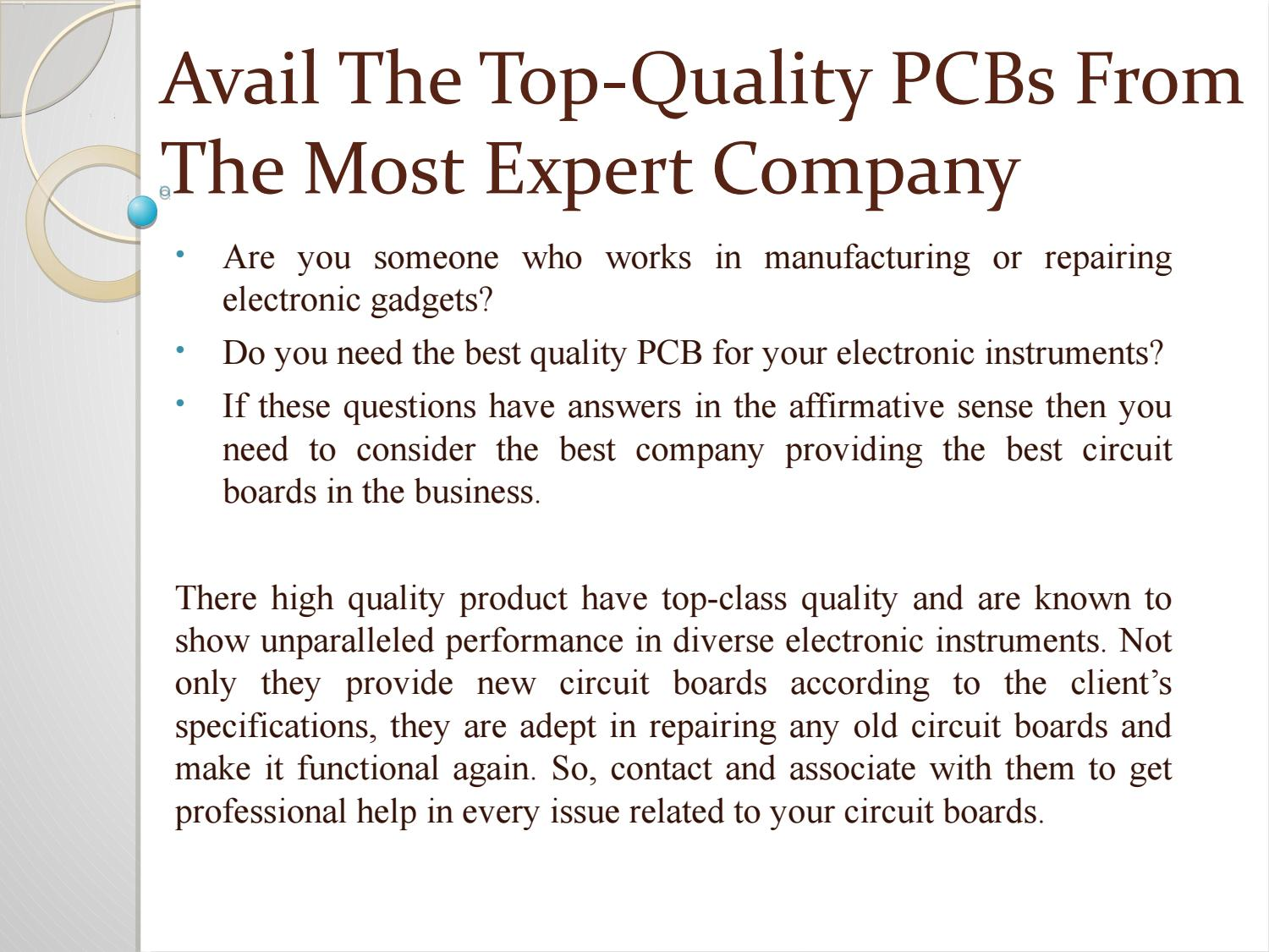 Greatpcb Pcb And Pcba Manufacturer By Smt Limited Issuu Board Repairs Circuit Printed