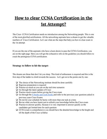 how to clear ccna certification in the 1st attempt? by network bulls ...