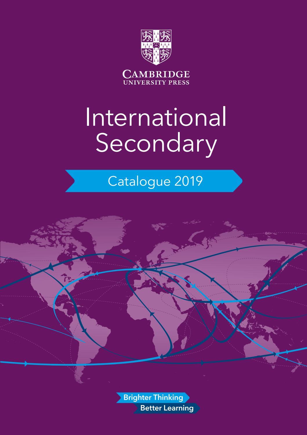 Cambridge International Secondary Catalogue 2019 by Cambridge
