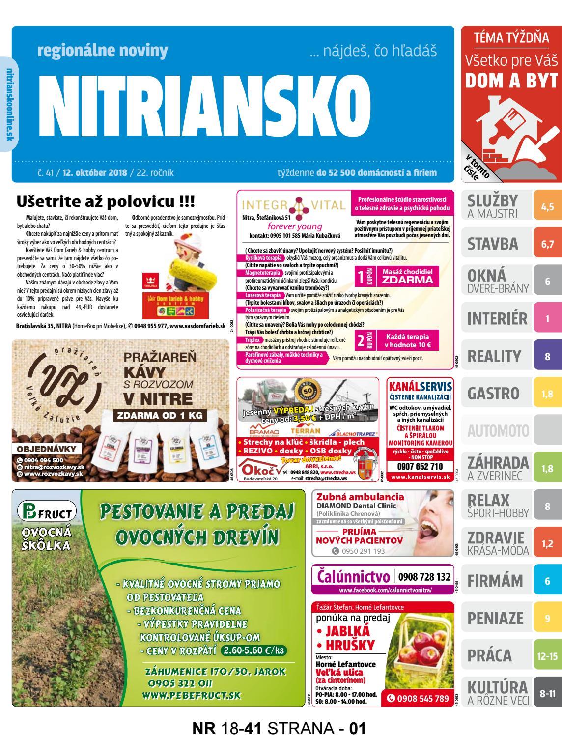01ead4fb9fca Nitriansko 18-41 by nitriansko nitriansko - issuu