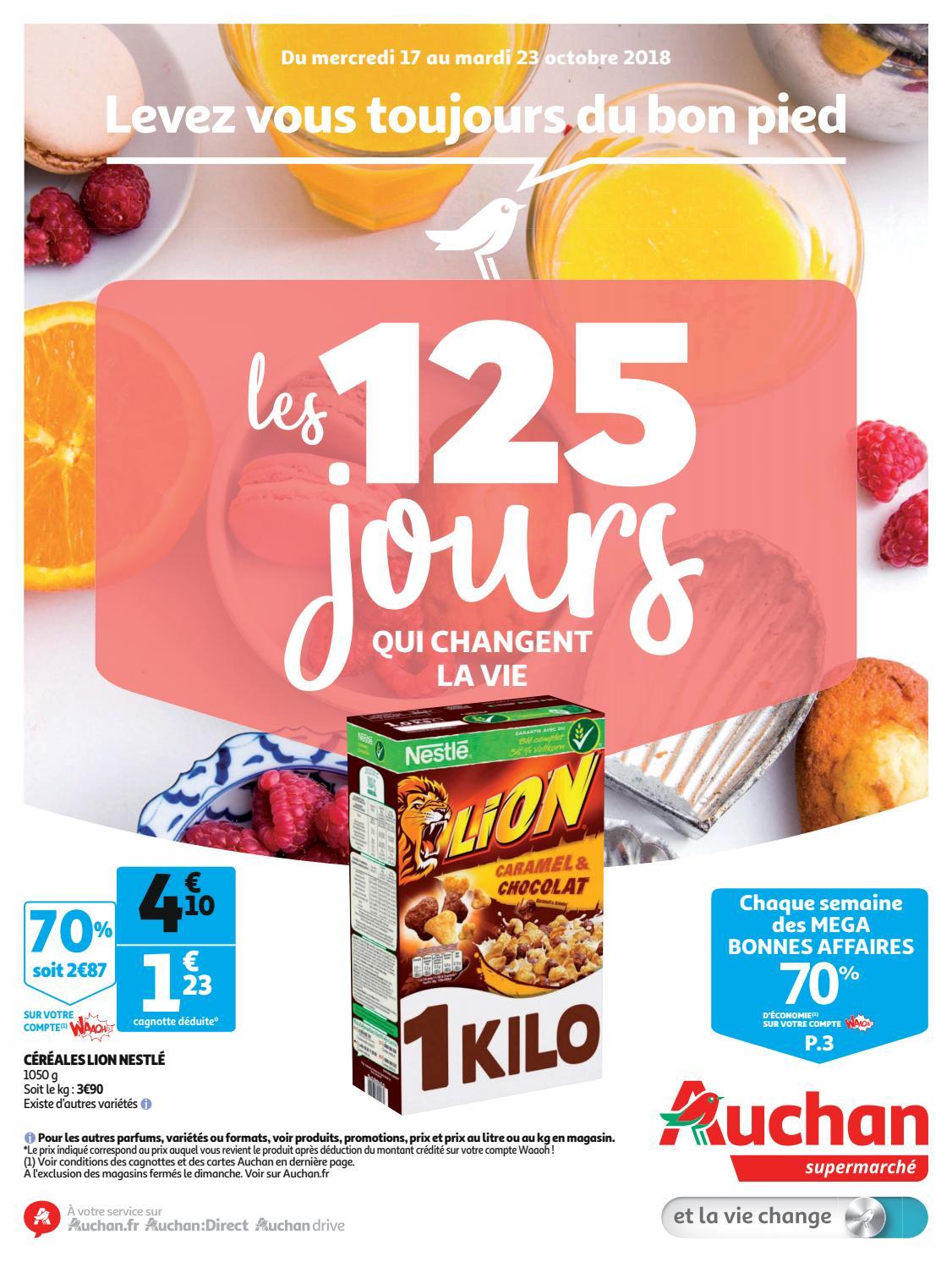 Auchan Supermarché 17 Au Octobre 23 Catalogue Du 2018 g6fb7y