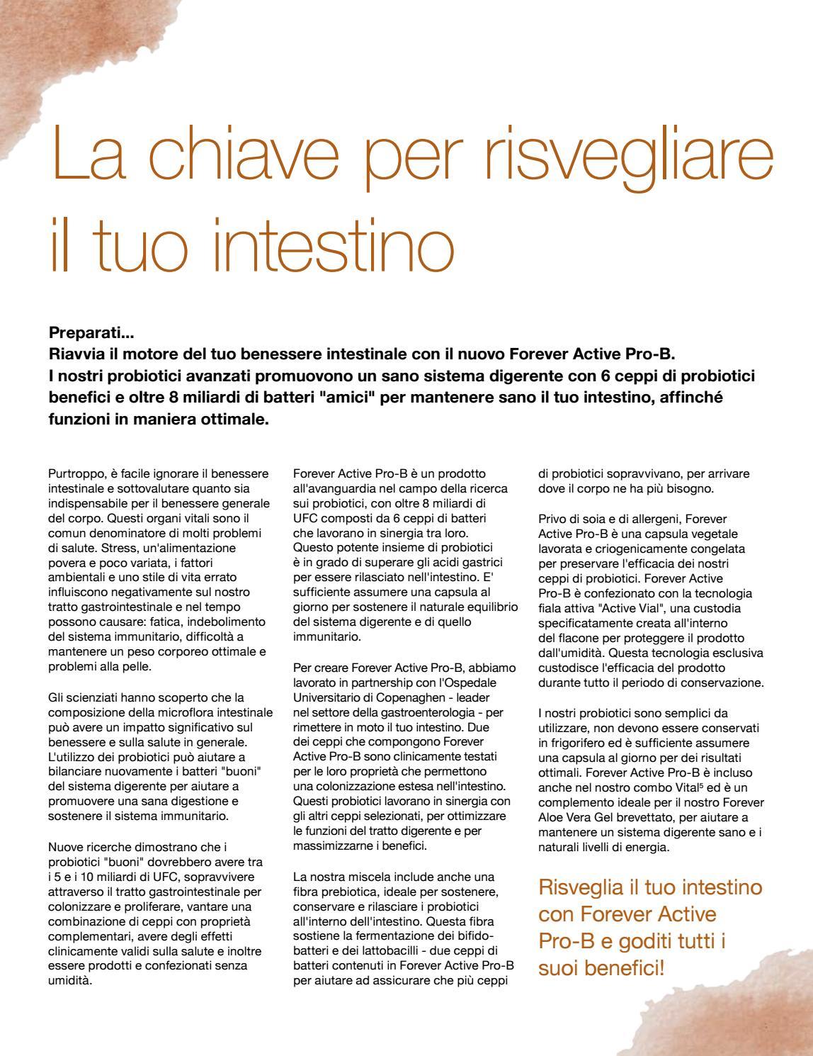 Articolo La Chiave Per Risvegliare Il Tuo Intestino By Forever Living Products Italy Issuu