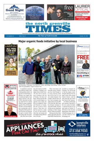 d0db500b56876 Issue 41 2018 October 10 NG Times by The North Grenville Times - issuu